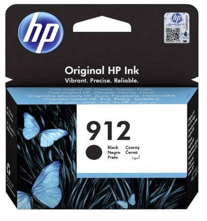 HP 912 Black, kartuša, za OJ 801X/802X, 300 strani