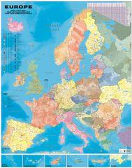 Evropa - nástěnná spediční mapa PSČ 100 x 130 cm