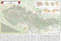 Česká a Slovenská republika - nástěnná automapa 200 x 140 cm