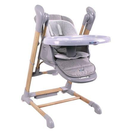 Bo Jungle krzesło do jadalni B-SWINGING CHAIR Wood szary