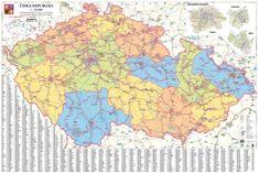 Česká republika - železniční mapa 137 x 93 cm