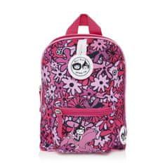 BABYMEL KIDS Floral Pink dětský batoh mini