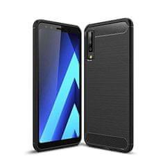Samsung silikonska maskica za Samsung Galaxy A7 2018 A750, mat carbon crna