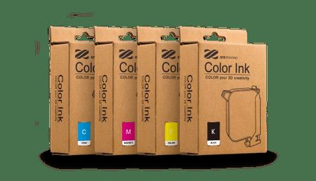 XYZprinting Starter Kit Ink komplet kartuš, rumena, magenta, cyan, črna, 40 mL