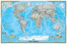 National Geographic Svět - nástěnná mapa Classic 175 x 122 cm
