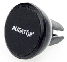Aligator Uniwersalny magnetyczny uchwyt samochodowy montowany do kratki wentylacyjnej.