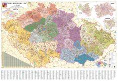 Česká republika - nástěnná mapa PSČ 135 x 90 cm