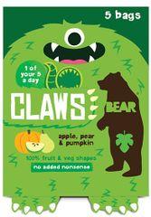 Bear Želé drápky Jablko, hruška a dýně 5x18 g