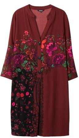 Desigual dámske šaty Vest Valentina 36 červená