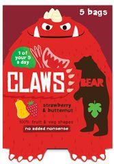 Bear Želé drápky jahoda a dýně 5x18g