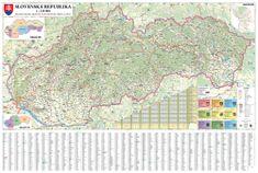 Slovensko - nástěnná automapa 135 x 90 cm