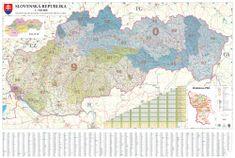Excart Slovensko - nástěnná mapa PSČ 135 x 90 cm
