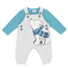 Primigi fantovski bodi za dojenčke s hlačami z naramnicami