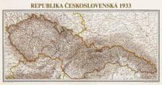 Československo 1933 - historická nástěnná mapa 200 x 100 cm
