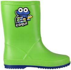 Coqui Dětské holínky Rainy Lime/Blue 8505-100-1450