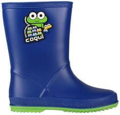 Coqui Buty dziecięce Rain y Blue / Lime 8505-100-5014