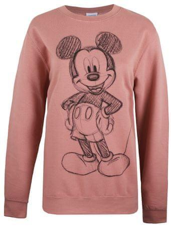 Disney bluza damska Mickey Forward Sketch M różowy