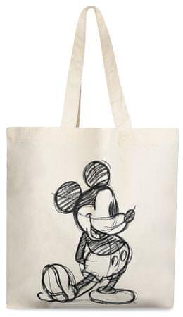 Disney torba płócienna damska Mickey Sketch kremowa