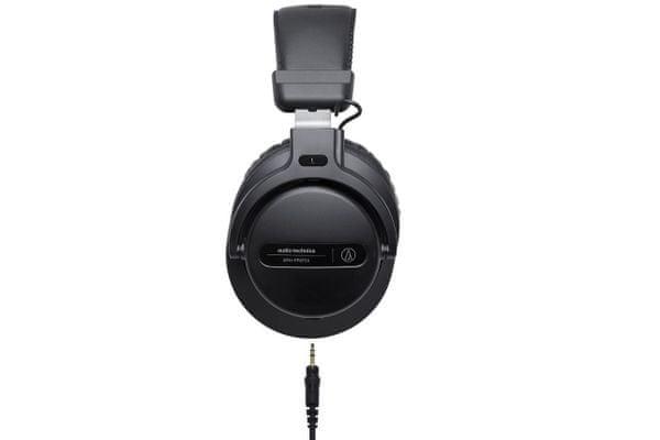 időtlen divatos vezetékes fülhallgató audio-technikai ath-pro5x semleges 40 mm-es váltóval és levehető kábellel a csomagolásban a dj felvételi stúdiókhoz kényelmes magas terheléshez
