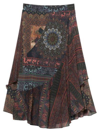 Desigual dámska sukňa Fal Luka S viacfarebná
