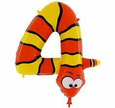 Grabo Nafukovací balónek had číslo 4 pro děti 102cm