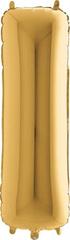 Grabo Nafukovací balónek písmeno I zlaté 102 cm