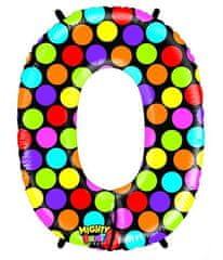 Grabo Nafukovací balónek písmeno O barevné 102 cm