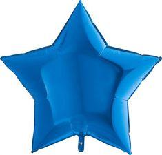 Grabo Nafukovací balónek modrá hvězda 91 cm