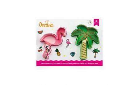 Decora Plameňák a palma plastové vykrajovátko set 2 ks