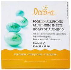 Decora Fólie pro balení čokolád - zelená 10x10cm 150ks