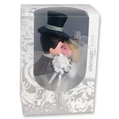 Svatební figurka na dort 1ks pusa porcelán