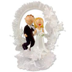 Svatební figurka na dort 1ks nešťastný ženich 220mm