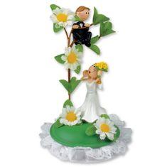 Svatební figurka na dort 1ks ženich na stromě 145mm