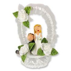 Svatební figurka na dort 1ks přinucený ženich