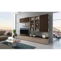 Obývacia stena, jelša Panama/Buffalo hnedá, GIJON
