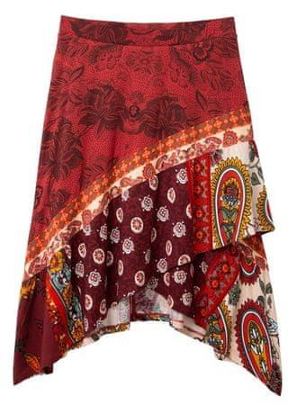 Desigual spódnica damska Fal Indira S czerwony