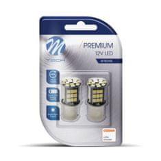 M-Tech LED PREM P21W 12V BA15S 48XSMD2835 W CB