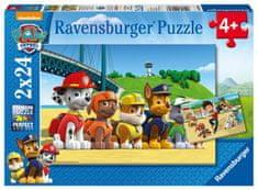 Ravensburger Puzzle 090648 Tlapková Patrola: Stateční psi 2x24 dílků