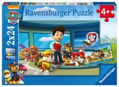 Ravensburger Puzzle 090853 Mancsőrjárat Jó tett 2x24 rész