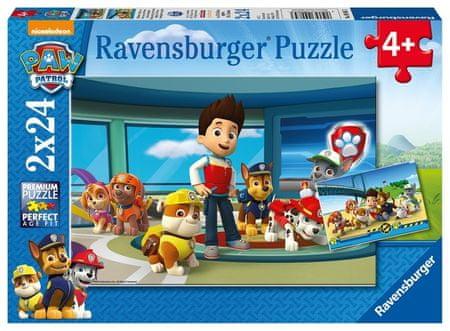 Ravensburger puzzle 090853 Paw Patrol: Dobry uczynek 2x24 elementów