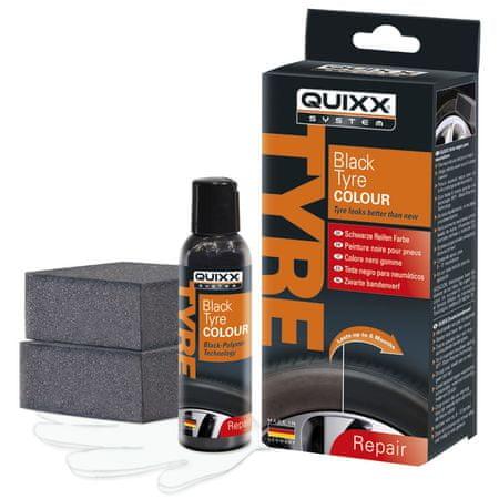 Quixx osvežilna barva za pnevmatike, črna, 75 ml