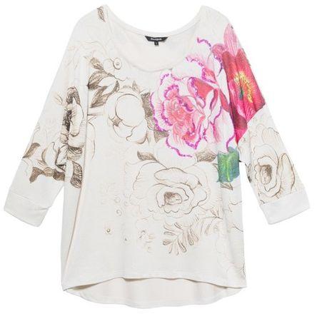 Desigual női póló Ts Daryl S krémszínű