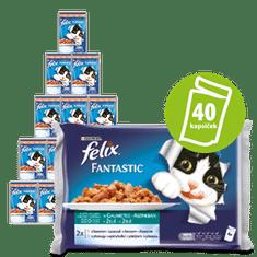 Felix Fantastic tenger gyümölcsei lazaccal és lepényhallal zselében10x(4x100g)
