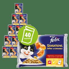 Felix Sensations marhával és paradicsommal zselében + csirkével és répával zselében 10x(4x100g)