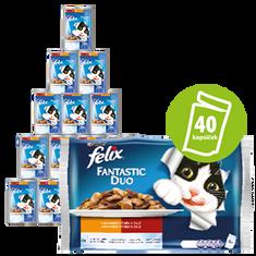 Felix Fantastic hrana za mačke, mesni izbor z zelenjavo, s piščancem, paradižnikom,, govedino in korenjem, 10x (4x 100 g)
