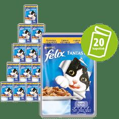 Felix FANTASTIC kapsičky s kuřetem v želé 20x100g