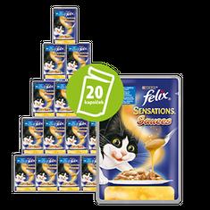 Felix vlažna hrana za mačke sa svinjetinom u umaku od rajčice Sensation, 20x100g