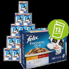 Felix mokra hrana za mačke Multipack, meso, 6 x (12x100 g)