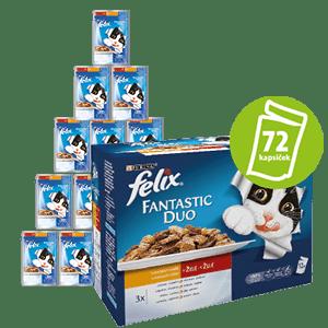 Felix saszetki dla kota FELIX multipack - mięsny wybór, 6x (12 x 100g)