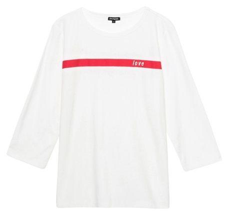 Desigual női póló Ts Matilde_1 XS fehér